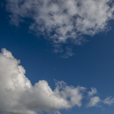 Blue Sky White Clouds Sunny Cloudscape Glorious Weather