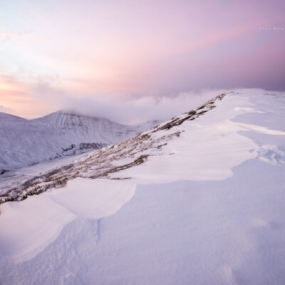 Central Brecon Beacons Wild Winter Snow Pink Sunrise