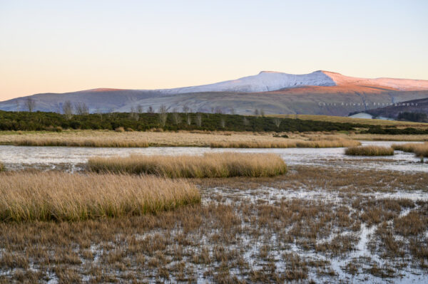 Mynydd Illtyd Pond Brecon Beacons Winter Sunset